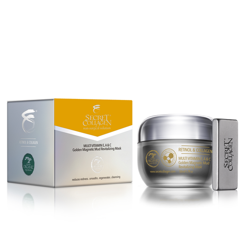 Multi-Vitamin E, A & C Golden Magnetic Mud Revitalizing Mask