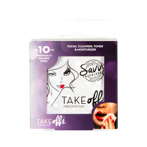 Take Offz - Facial Cleanser & Moisturizer Wipes (10 Pack)