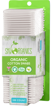 Organic Cotton Swabs 500ct