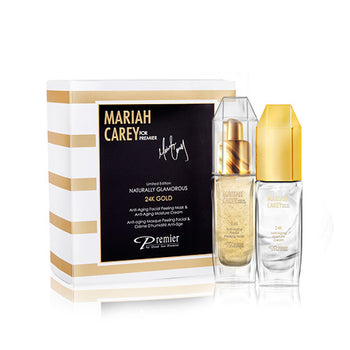 Limited Edition Mariah Carey for Premier - 24K Gold Anti-Aging Facial Peeling Mask & Moisture Cream