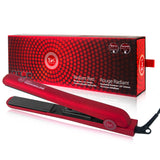 "Revolution 1.25"" Ceramic Tourmaline Flat Iron with Far Infrared Technology - Radiant Red"