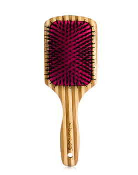 Luxe Bamboo Detangling Paddle Brush with Premium Boar Bristles