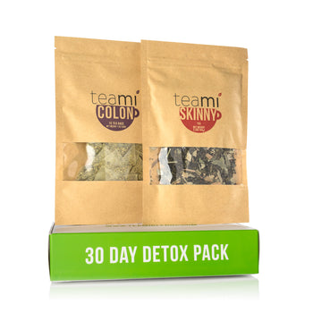 30 Day Detox (Skinny Tea Metabolism Booster Blend + Colon Tea Detox Blend)