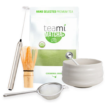 Matcha Pro Set - Tea, Bowl, Frother, Teaspoon, Strainer & Whisk