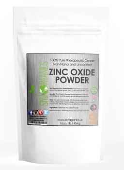 Zinc Oxide Powder Non-Nano for All-Natural Sunscreen