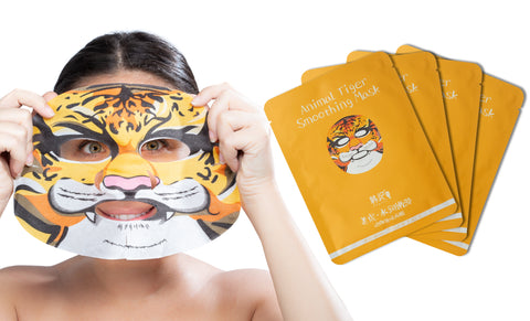 4-Pack of Animal Character Premium Sheet Masks