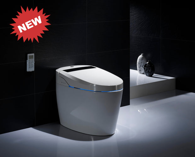 "SMART ONE PIECE ELONGATED TOILET ""LAZIO"" AT-5530100-WH"
