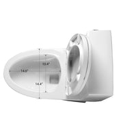 "ONE PIECE ELONGATED TOILET ""SANTORINI"" AT-003S-WH"