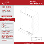 NAPOLI FRAMELESS TUB DOOR-DEV