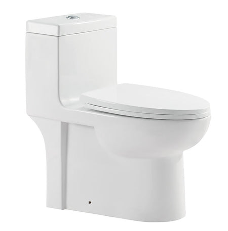 "ONE PIECE ELONGATED TOILET ""MILOS"" AT-006-WH"