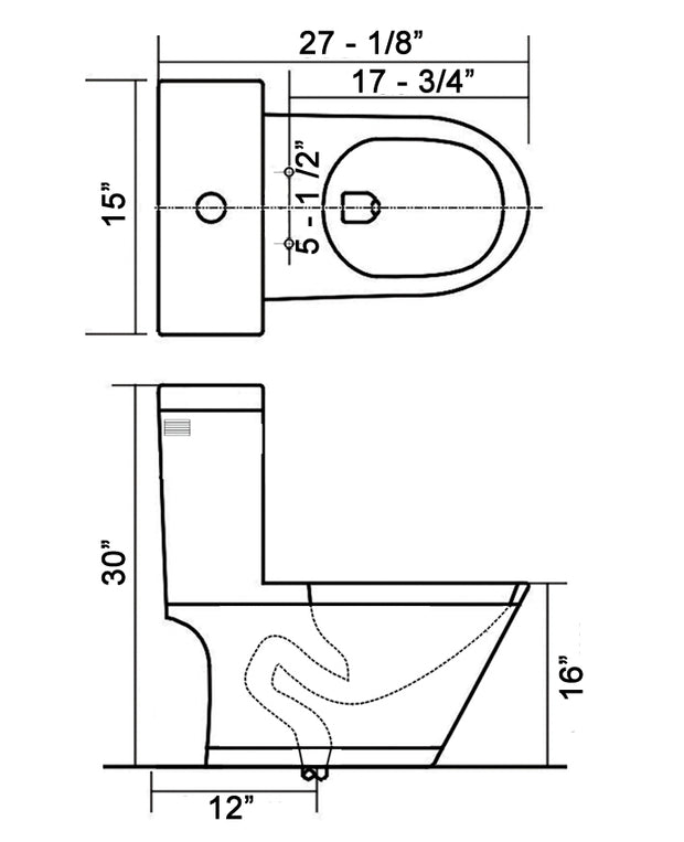 One Piece Elongated Toilet Naxos At 008 Wh