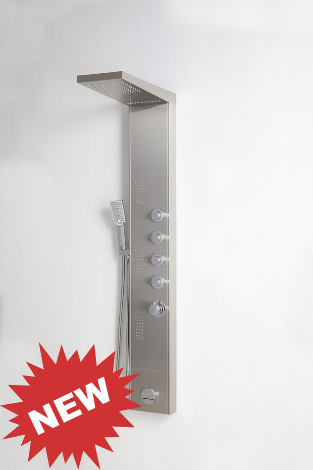 "SHOWER PANEL ""VERONA"", ASP-8155-SS, NEW"