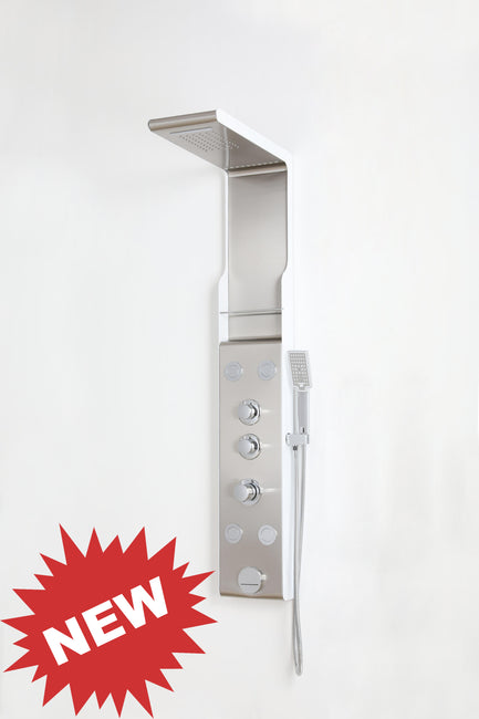 "SHOWER PANEL ""TRENTO"" ASP-3055-SS, NEW"
