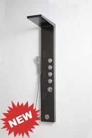 "SHOWER PANEL ""VERONA"" BLACK, ASP-8155-BL, NEW"