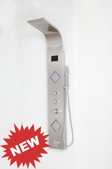 "SHOWER PANEL ""PALERMO"" ASP-1255-SS, NEW"
