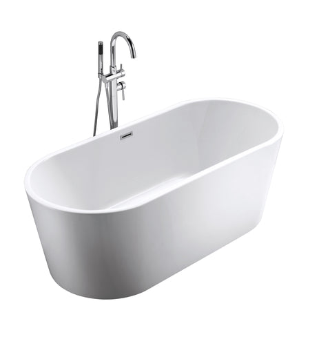 "FREESTANDING TUB ""MONARCH"" 67"" x 27.5"" x 23.6"" AFT-1981-WH"