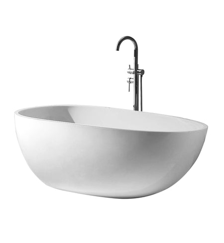 "FREESTANDING TUB ""VERSAILLES"" 67"" x 31.5"" x 22"" AFT-3981-WH"