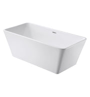 "FREESTANDING TUB ""MARSEILLE"" 59"" x 27.5"" x 23.6"" AFT-8363-WH"
