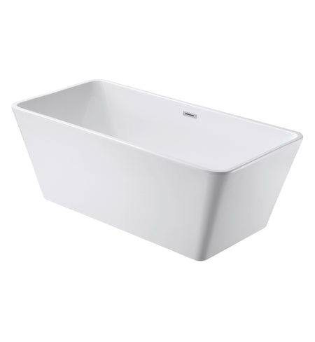 "FREESTANDING TUB ""MARSEILLE"" 60"" x 28"" x 22.8"" AFT-8363-WH"