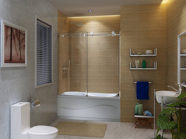 NAPOLI FRAMELESS TUB DOOR