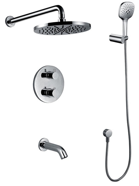 "TUB & SHOWER SET ""MODERNO"" ASTS-50541-CH"