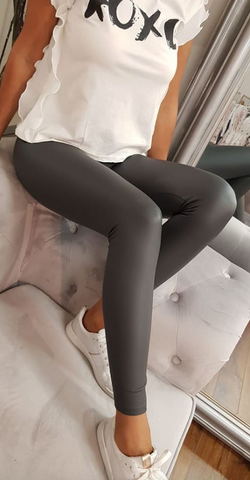 Plain Leggings Grey