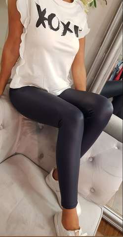 Plain Leggings Navy
