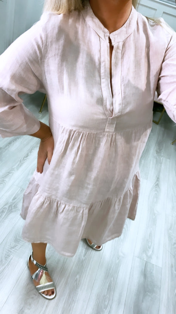 Tilly Linen Tunic Blush