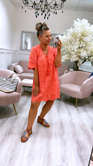 Molly Dress Coral