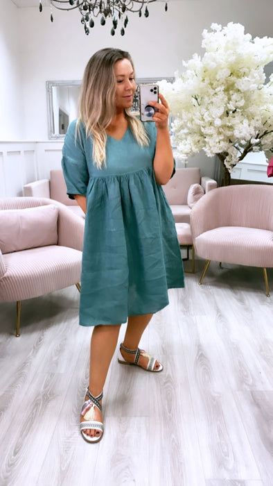 Marley Tunic Dress Green