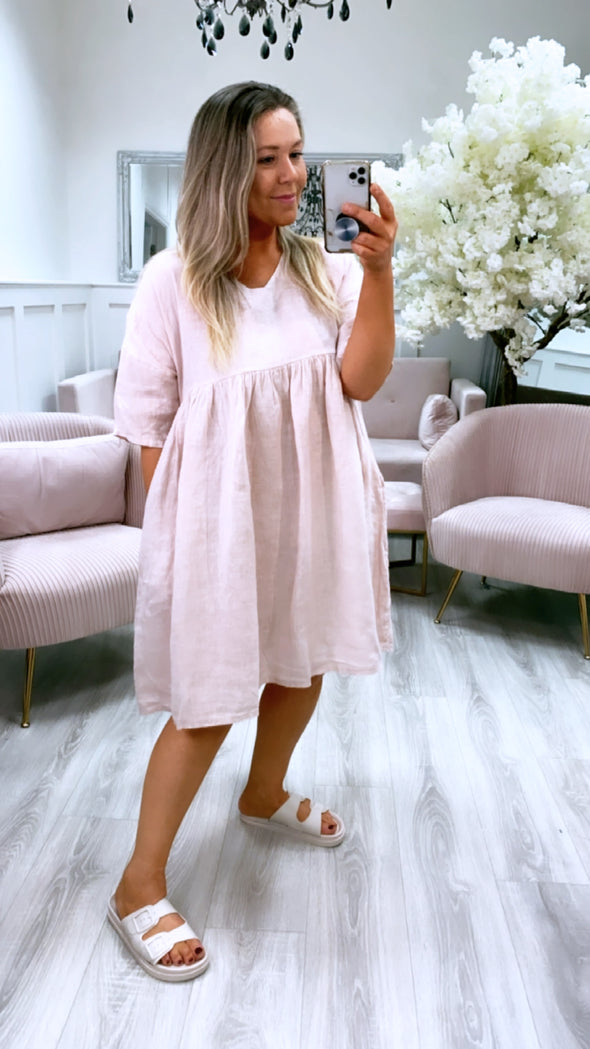 Marley Tunic Dress Pink