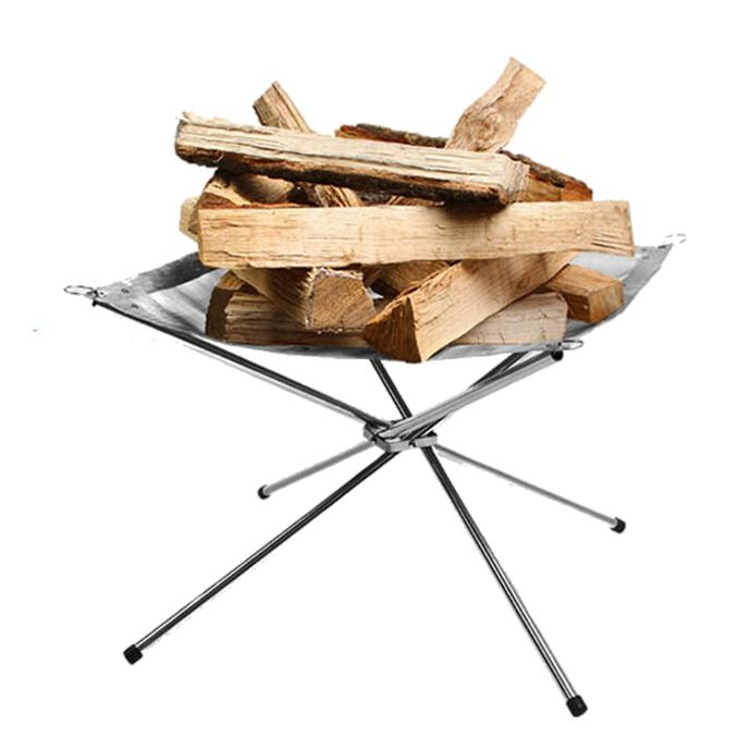 ultralight fire rack, folding outdoor stove