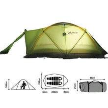 Professional Stormproof Winter Tent 2 Person Double Layer Outdoor Camping Tent For Climbing Mountaineering