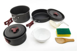 The essential set you need  for camping cooking