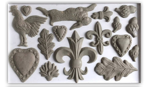 "Fleur-De-Lis IOD Decor Mould (6""x10"")"