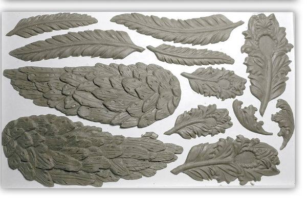 "Wings And Feathers IOD Decor Mould (6""x10"")"