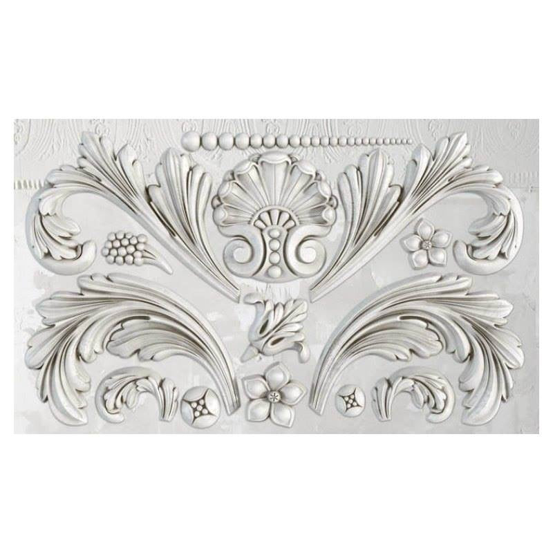 "Acanthus Scroll IOD Decor Mould (6""x10"")"