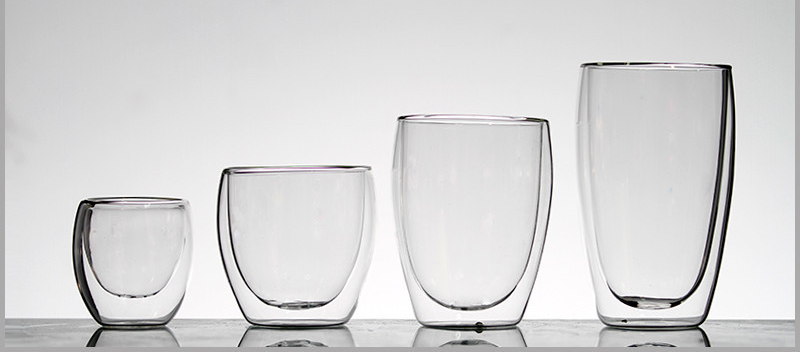 Set de verres en Borosilicate à double foyer de 80ml à 450ml