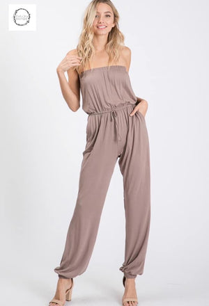 Juniper strapless jumpsuit