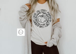 Circle of fall tee {Grey + co}