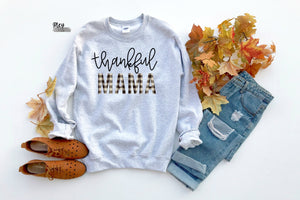 Thankful mama fleece {Grey + co}