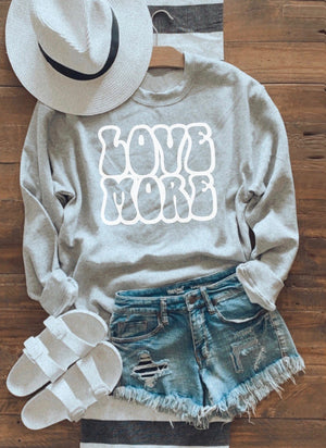 Love more crew neck fleece