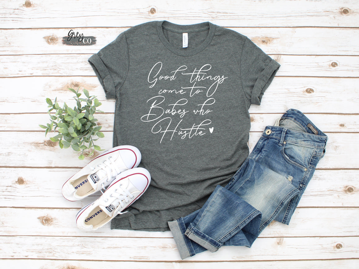 Babes who hustle tee {Grey + co}