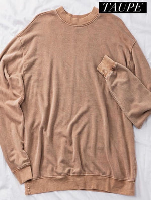 Savanna mineral wash french terry sweatshirt