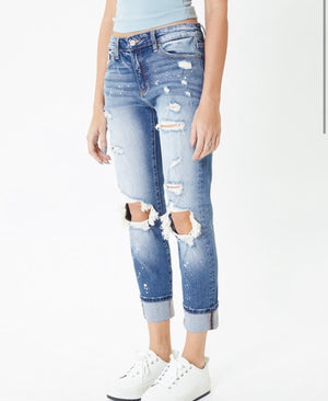 Salt lake skinny distressed kancan denim
