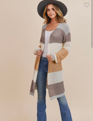 Chloe color block cardigan