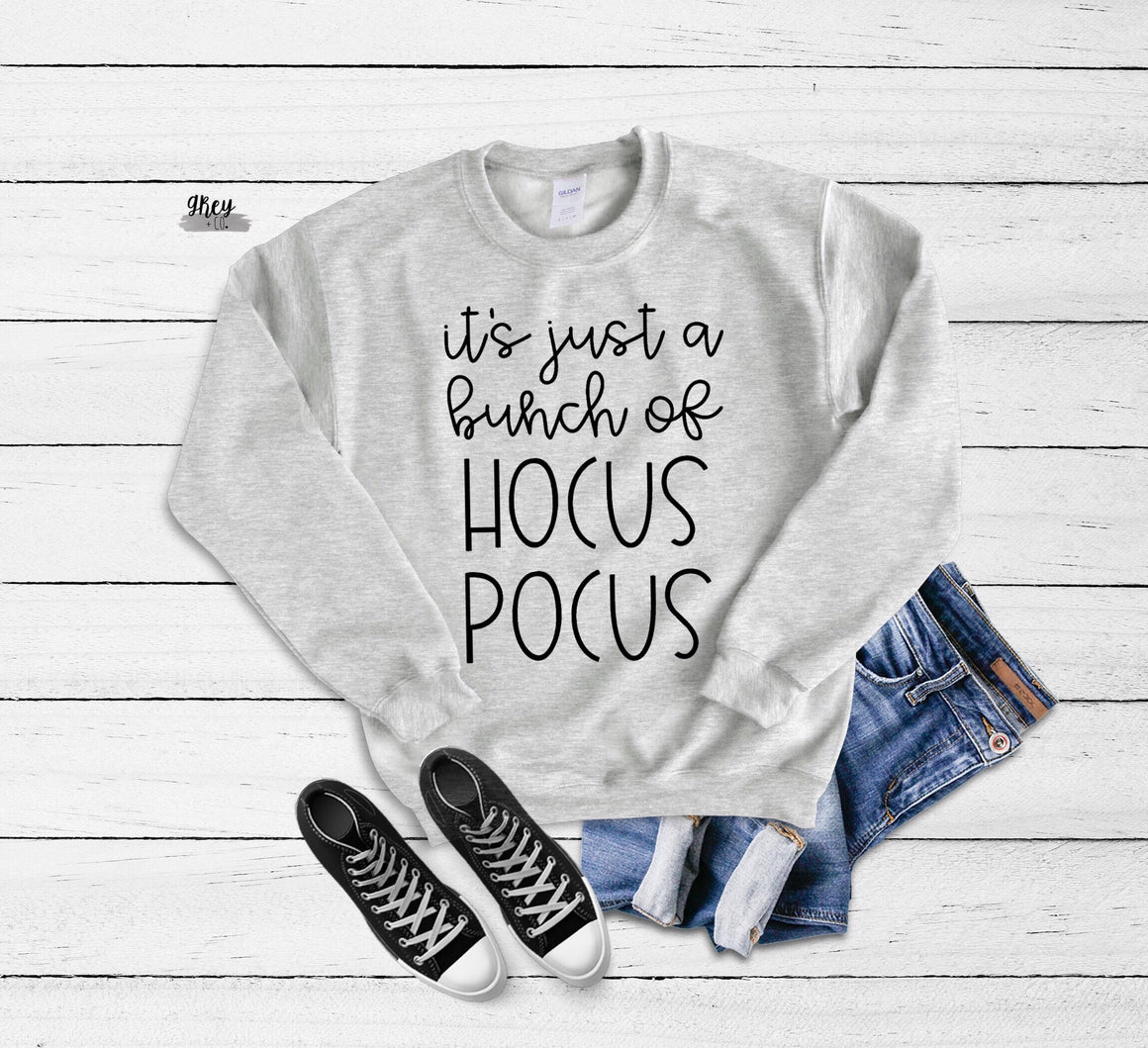 Hocus pocus sweatshirt {Grey + co}