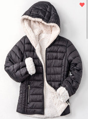Meet me at the slopes puffer jacket