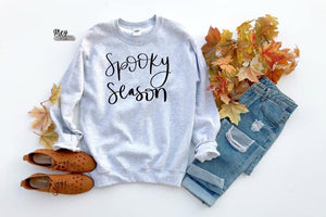 Spooky season fleece {Grey + co}