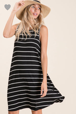 Sunday Fun day Striped Dress